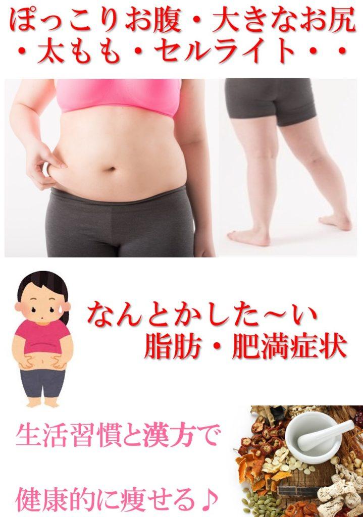 食事を制限しても・運動してもなかなか痩せない…もしかしたら代謝が良くないかもしれません。漢方で代謝を整えるお手伝い。