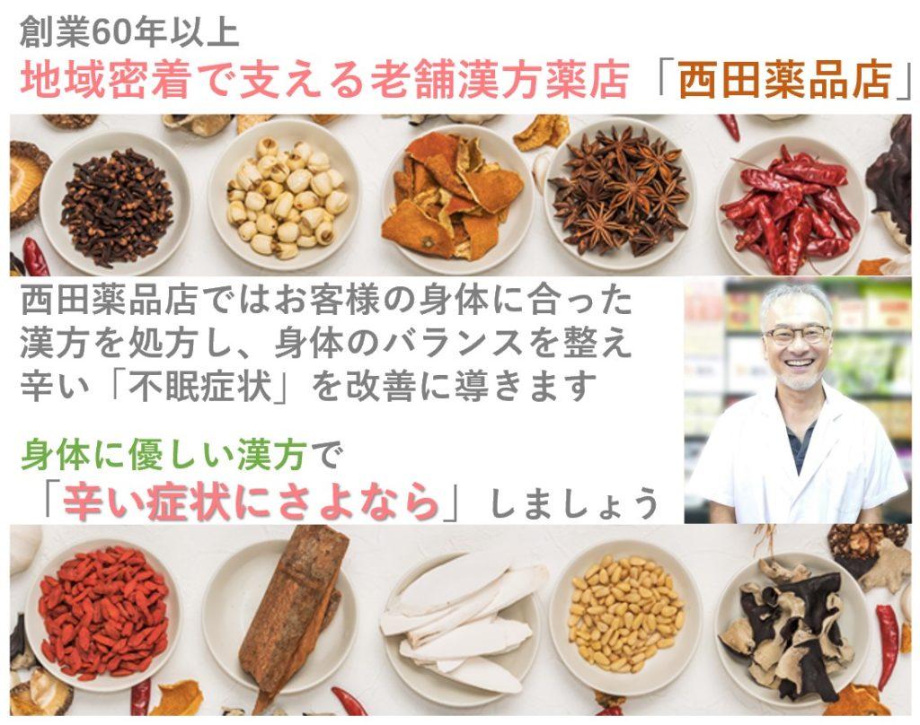 漢方の西田薬品店プロフィール